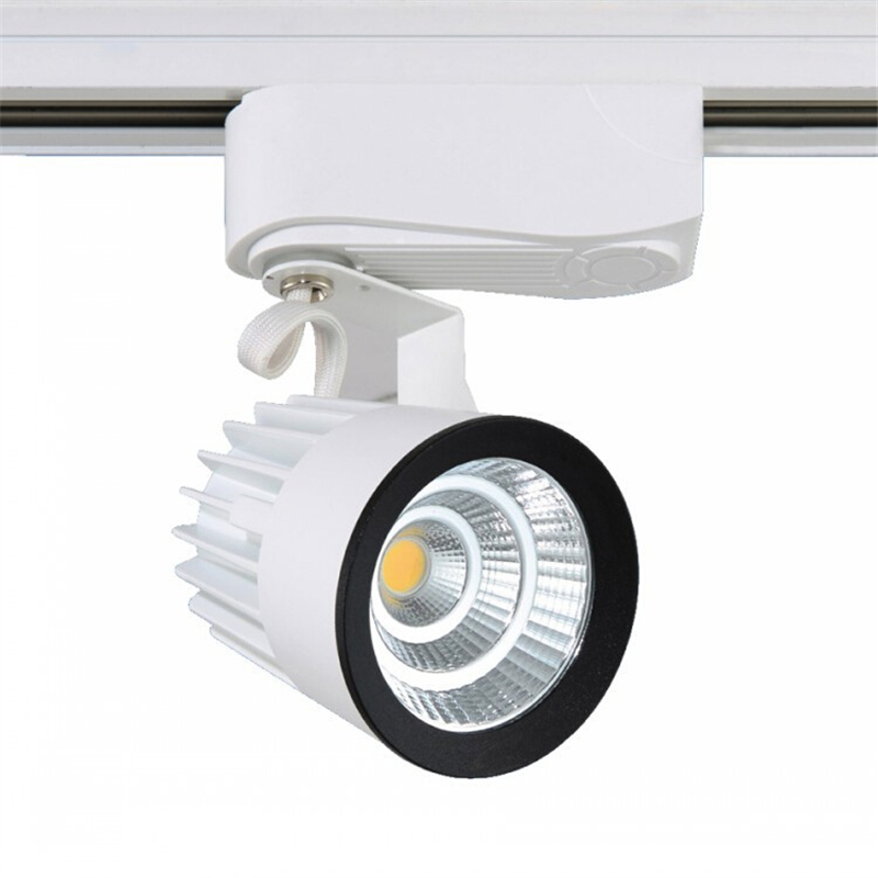 led track lights lighting 15w clothing store backdrop hall ceiling surface mounted cob track light ac110v 220v free shipping ceiling mount track lighting