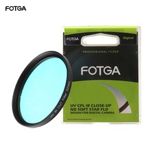 FOTGA Оптическое стекло UV-IR фильтр 52 мм 58 мм Инфракрасный Пасс рентгеновский ИК УФ фильтр для DSLR Nikon Canon камера