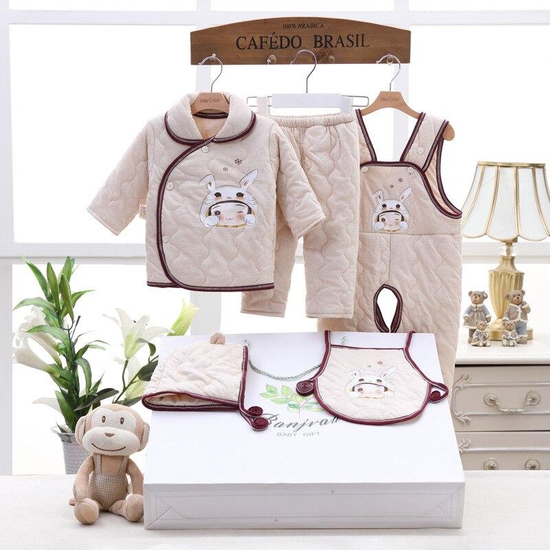 5 pièces/ensemble 100% coton épais nouveau-né bébé vêtements ensembles nouveau-nés bébé vêtements ensemble pour garçons filles épais bébé vêtements