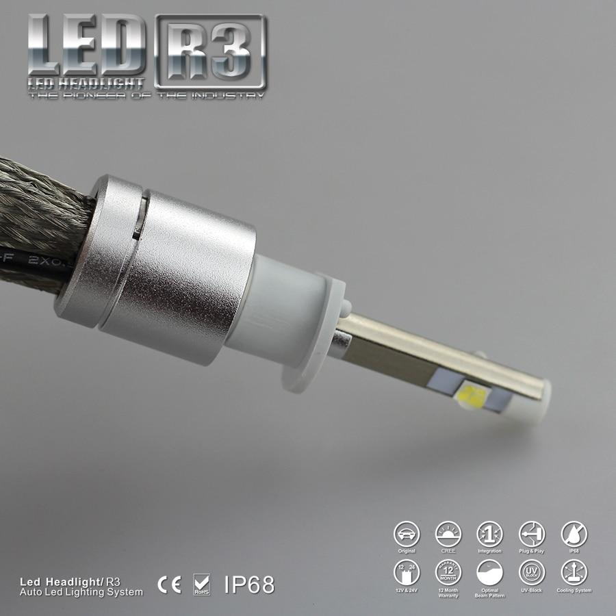 9600lm Led H1 Fara 6000K Ağ Super Parlaq Avtomobil LED fənər - Avtomobil işıqları - Fotoqrafiya 2