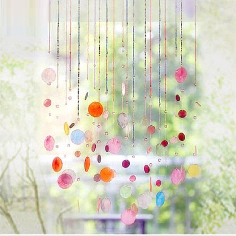 Produit fini 12 cordes shell cristal perle rideau peut être personnalisé décoration porte cristal rideau porche partition - 3