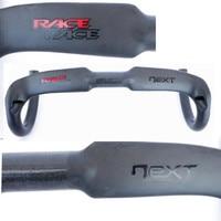 new matte carbon handlebar +glossy sticker UD carbon road handlebar drop 127mm reach 104mm 31.8*400/420/440mm