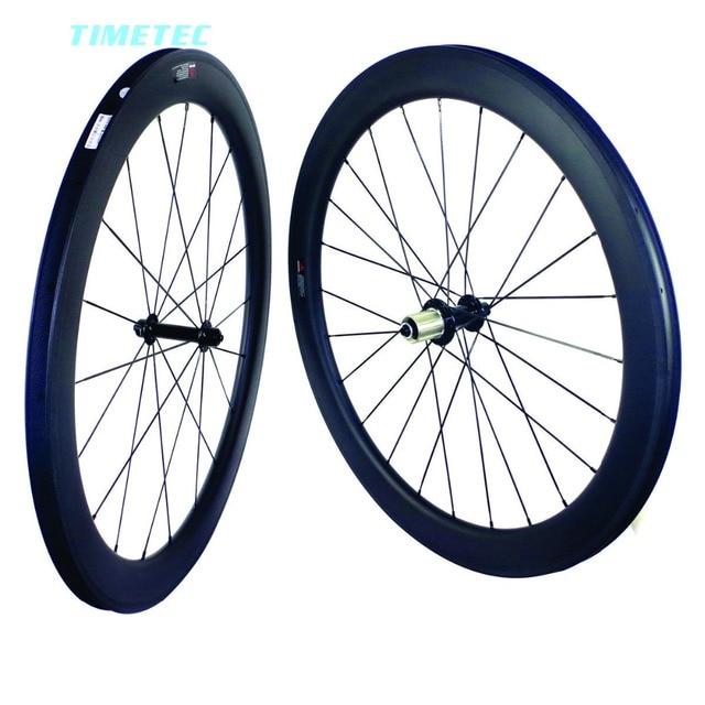 700C vélo de Route de carbone roues 35mm 38mm 50mm 60mm de carbone vélo roues de bicyclette de carbone roues pneu 25mm largeur U forme basalte