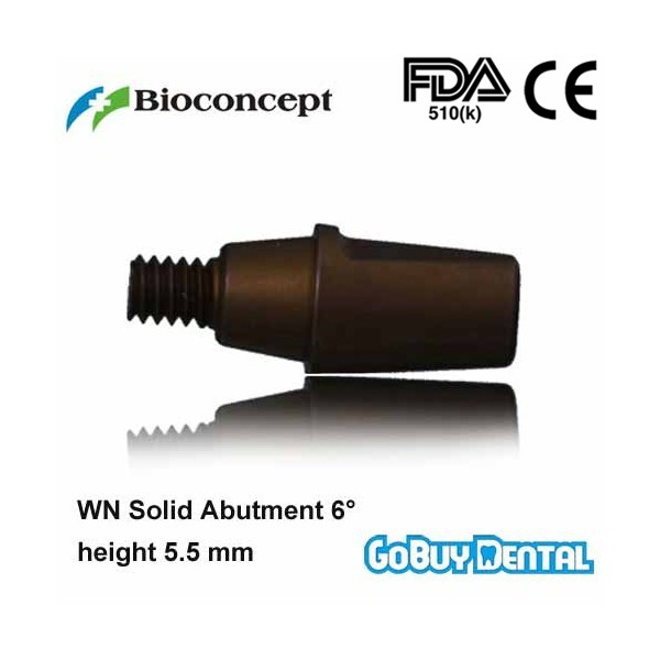 все цены на Straumann Compatible Bone Level WN Solid Abutment 6 degrees, height 5.5mm, brown(Wide Neck) онлайн