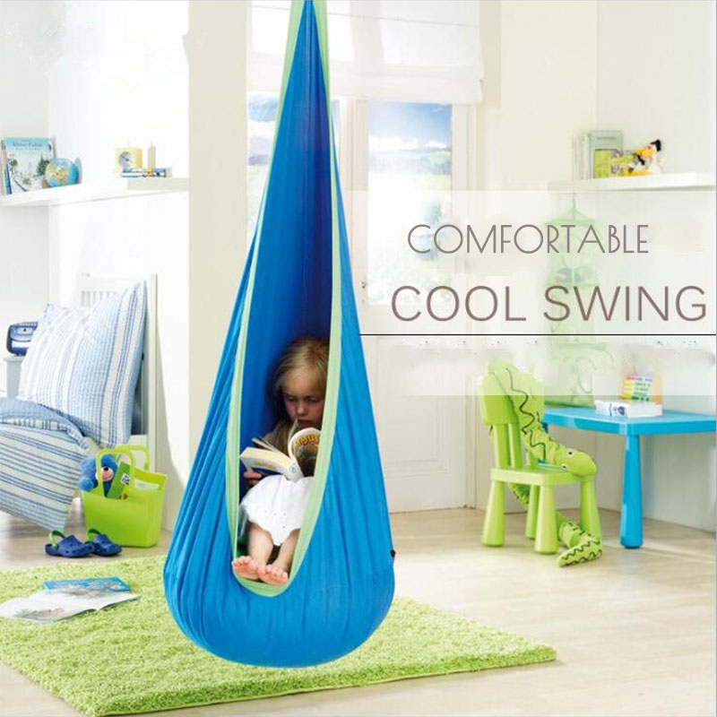Outdoor children hammock swing household inflatable hammock Cushion Garden Swing Chair Indoor Hanging Seat Patio Furniture baby swing indoor hanging chair swing children bag brand export outdoor recreation leisure small swing chair
