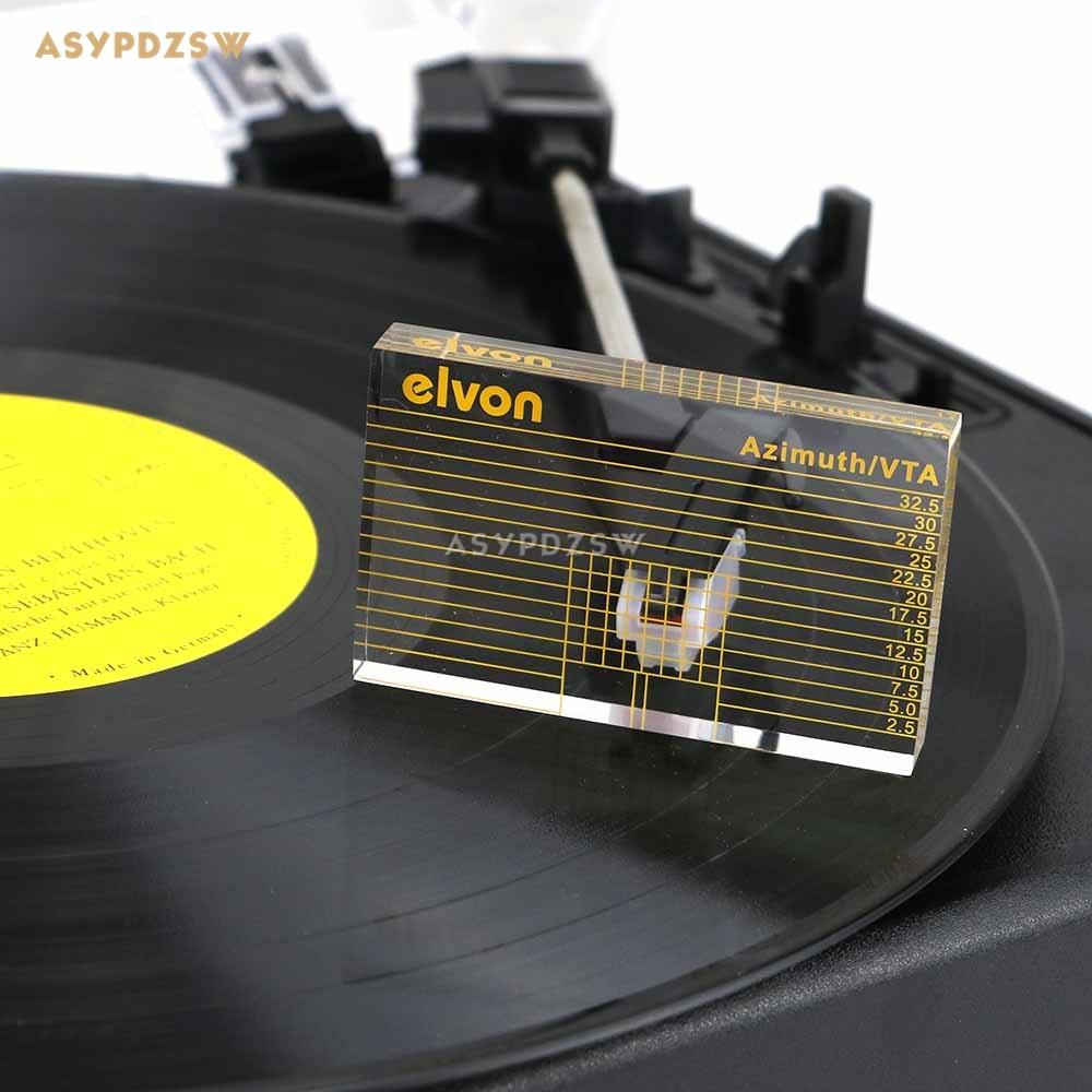 Elvon LP Vinyle tourne-disque phono De Mesure Bras VTA/Cartouche Azimut Règle