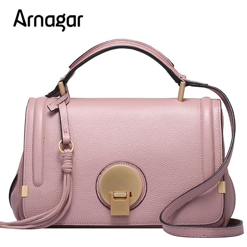 Prix pour Arnagar véritable sacs en cuir femmes messenger sacs 2017 nouveau printemps sacs à main de luxe femmes sacs designer sacs à bandoulière sac à main