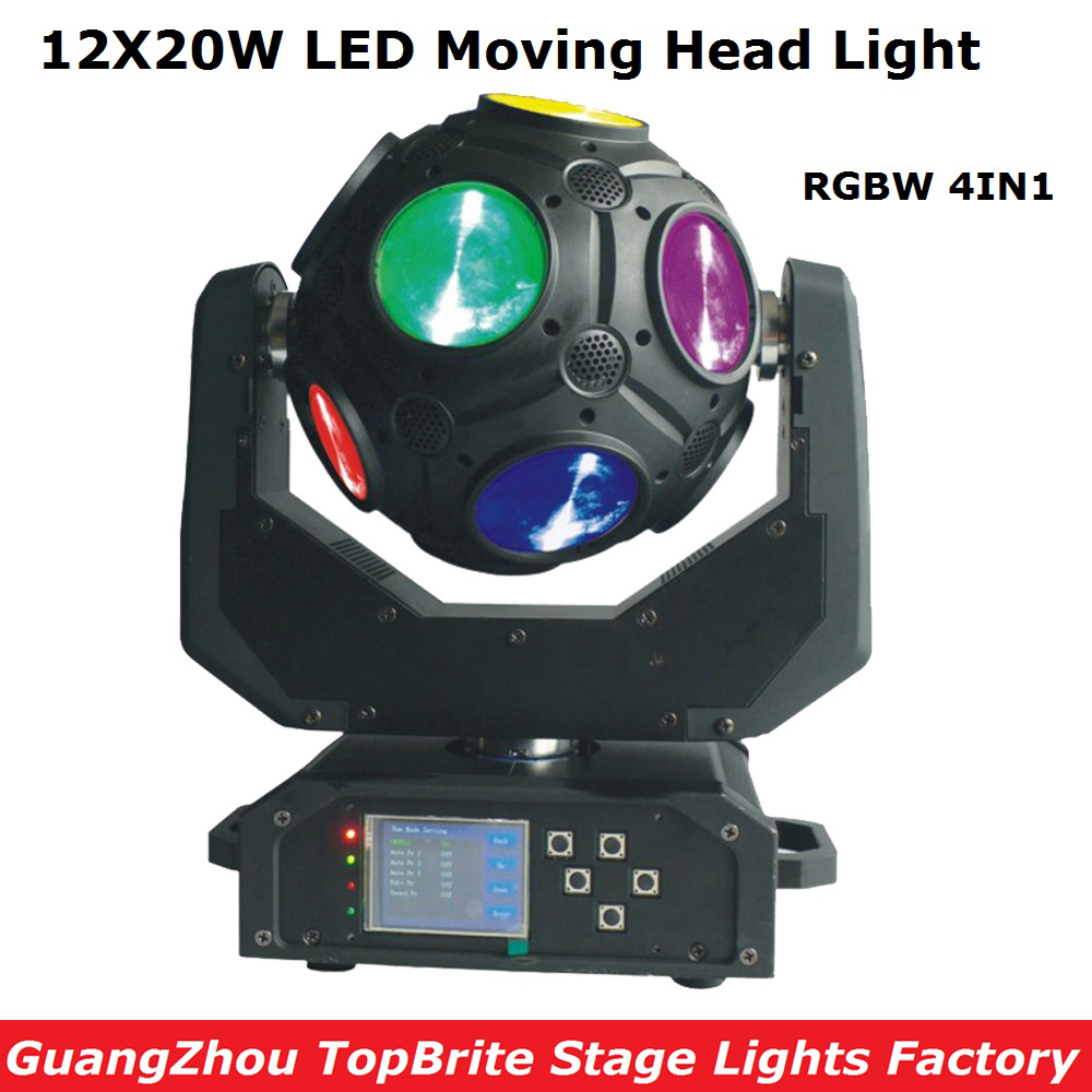 High Quality 1Pc 12*20W RGBW 4IN1 Football LED Moving Head Light 226W LED Football Moving Head Beam Light 100-240V Free Shipping football manager 2016 игра для pc