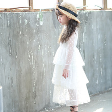 Girls dress 2018 spring and summer small and medium – sized girls little girls dresses network temperament girl dress