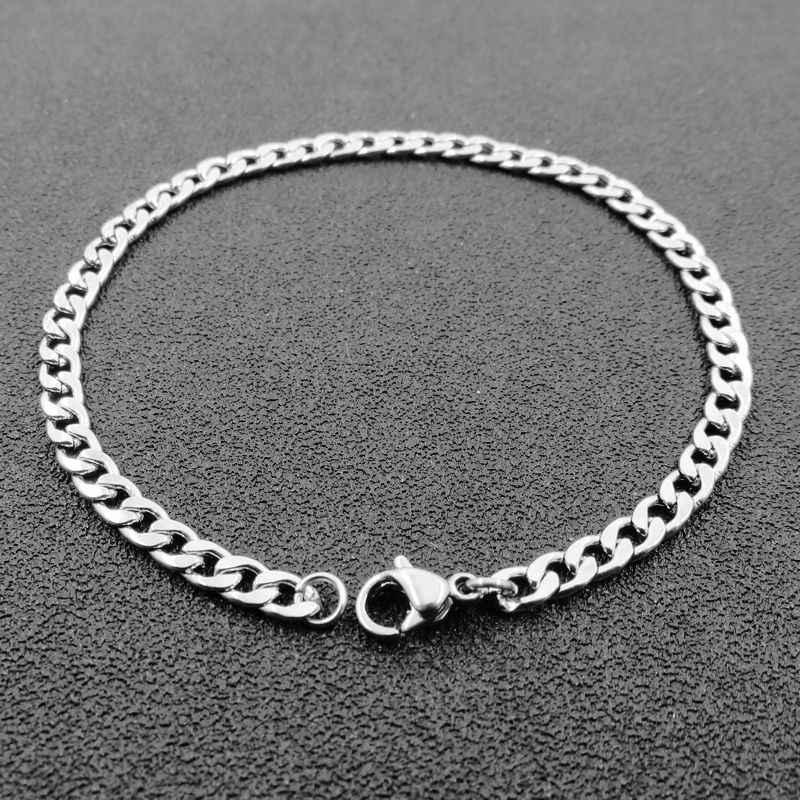 אישית 3/4/5/6/7mm נירוסטה רולו שרשרת צמיד, גברים של נשים של צמיד, תכשיטים אבזרים