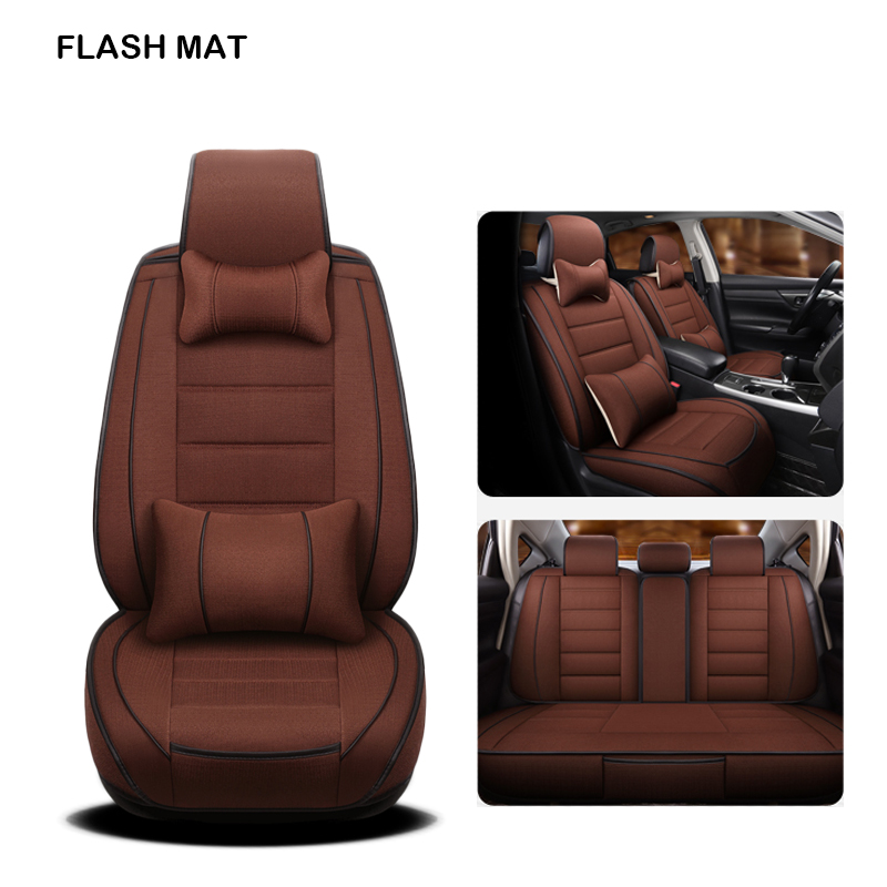 flax car sear covers for <font><b>mercedes</b></font> <font><b>w203</b></font> w124 w202 <font><b>mercedes</b></font> w211w212 w245 cla gla s600 car accessories Car seat protector image