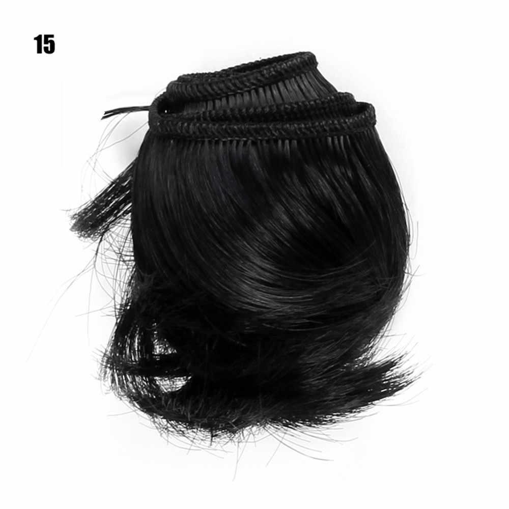 Hoge Kwaliteit 5 cm Pop Haar Stuk Bruin Wit Rood Blauw Zwart Grijs Rechte Pop Haar voor BJD Pop DIY haar Pruiken