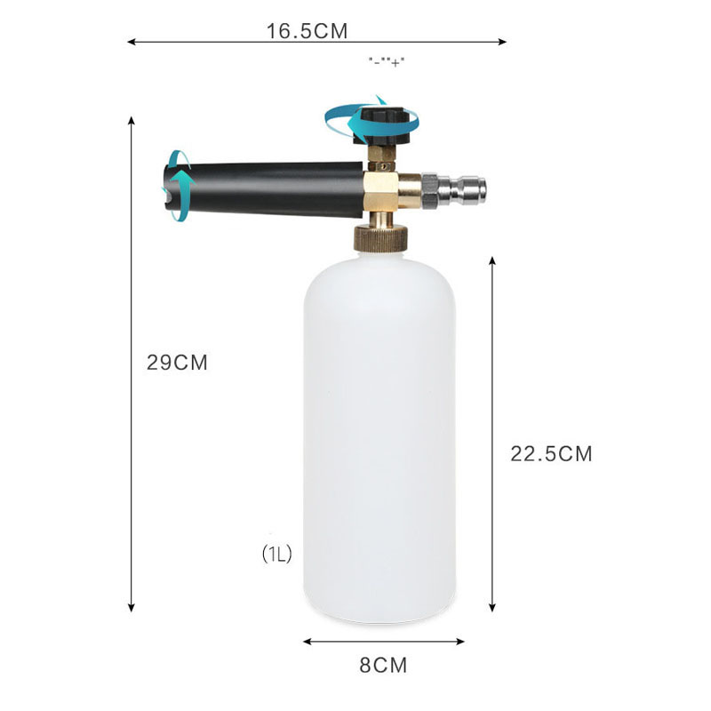 Car Wash Snow Foam Lance With Different Kinds Male Thread Adaptors Soap Foamer Gun Washer With Adjustable Nozzle Sprayer
