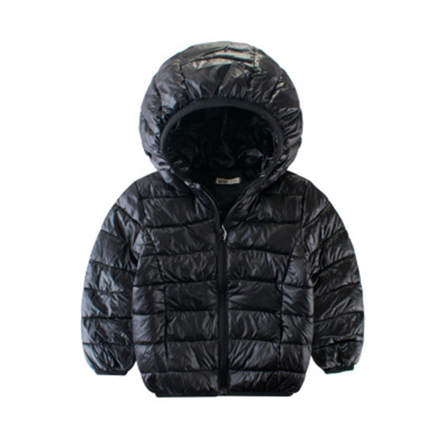 GODODOMAOYI patchwork style fashion warm hooded coat kids outerwear snowsuit Winter jacket for boys girls 100% cotton filling