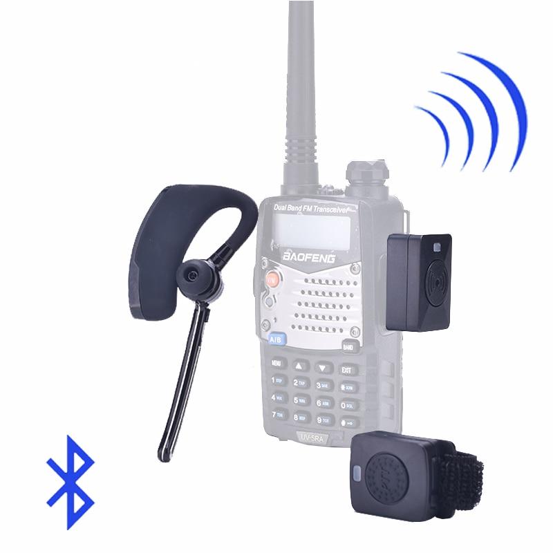 Walkie Talkie Auricolare Senza Fili Walkie Talkie Auricolare Bluetooth A Due Vie Radio Senza Fili Della Cuffia Auricolare Per Baofeng 888 s UV5R