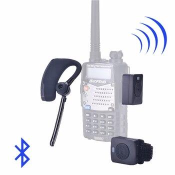 Walkie Talkie Wireless Headset  Bluetooth Two Way Radio Headphone Earpiece For Baofeng 888S UV-82 UV5R