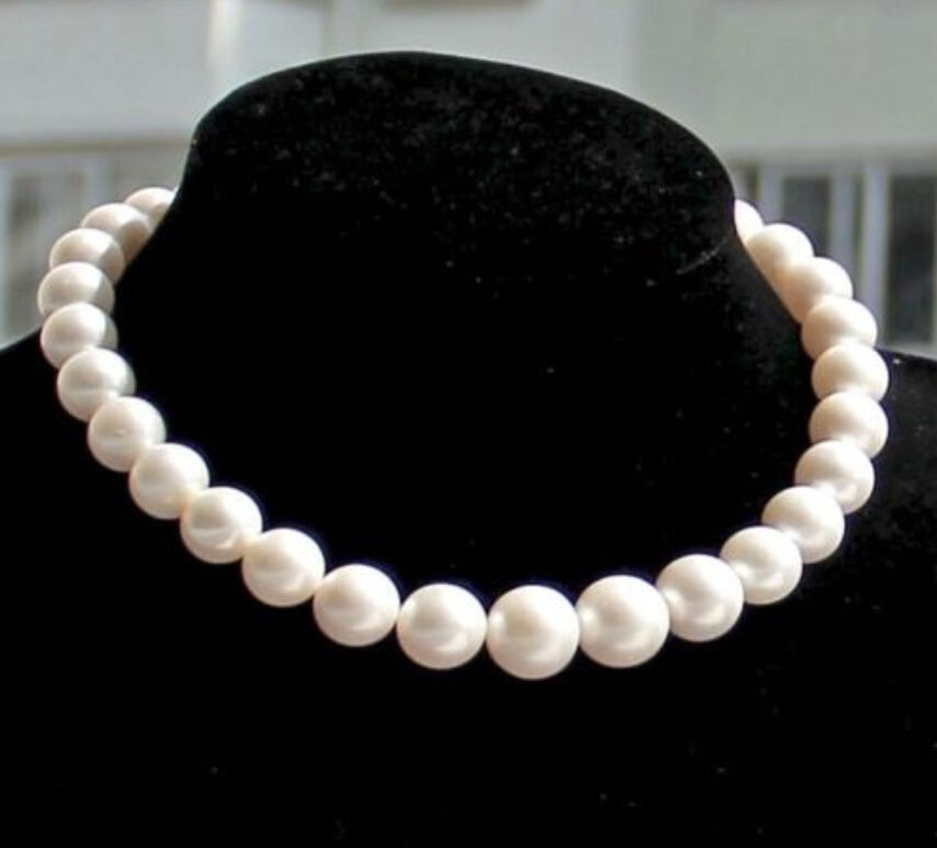charming AAA 18 12-13mm natural south sea white pearl necklacecharming AAA 18 12-13mm natural south sea white pearl necklace