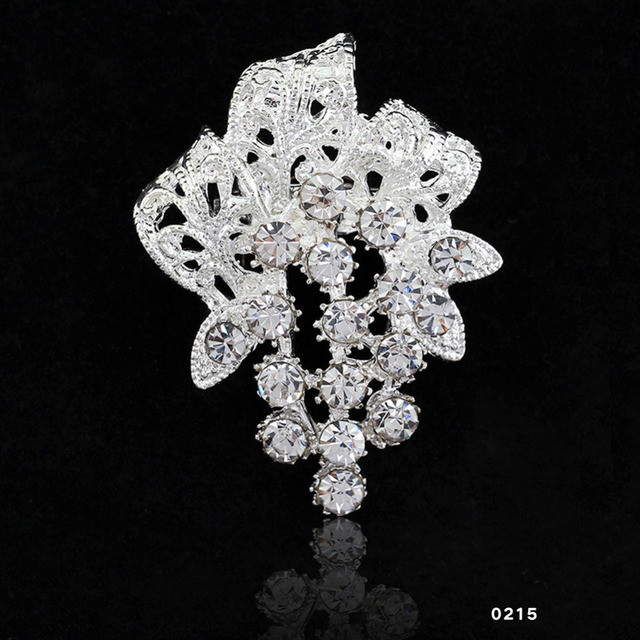 Bridal Bouquet Flower Brooch