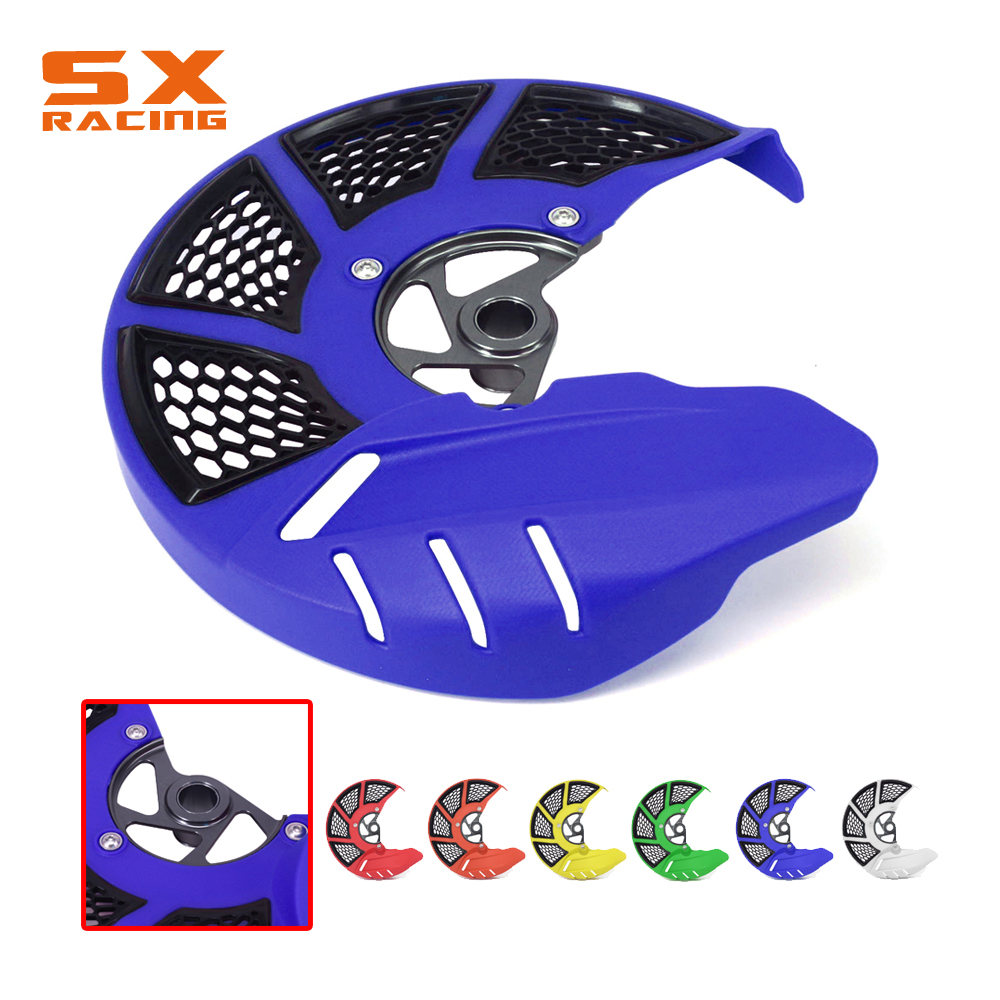 Motorcycle Front Brake Disc Rotor Guard Cover Protector For Husqvarna TC FC TE FE 125 250 300 350 450 501 16-17 TX FX 2017 rear brake disc guard protector for husqvarna tc te fc fe 125 250 300 350 450 501 fx 350 450 tx 300 2014 2015 2016 2017