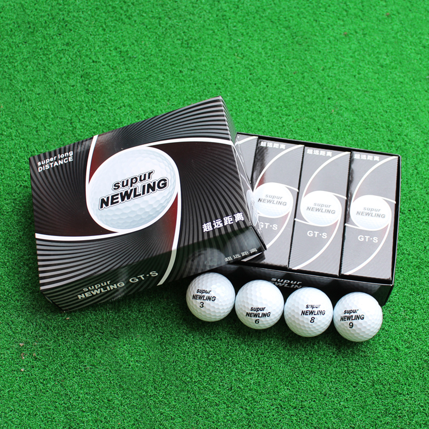 Three Piece Golf Ball Golf Game Ball Golf Super Long Distance Ball Free Shipping 12pcs/box golf ball sample display case