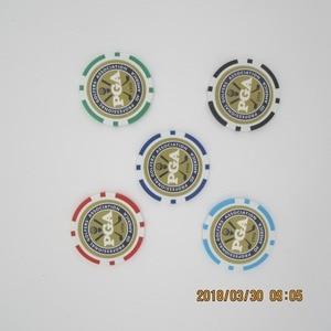 Image 2 - 12EA new design pga golf poker chip ball marker many color 40cm dia 11.5g best seller golf ball marker