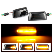 Indicador lateral dinámico LED para coche, luz intermitente secuencial para Opel Insignia Astra H Zafira B Corsa D, Chevrolet Cruze, 2 uds.