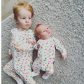 Nueva Ropa de Las Muchachas de Primavera y otoño Muchachos de Los Bebés de Manchas de Color Ropa de Algodón de Manga Larga Con Cremallera de Impresión Mameluco Del Mono Trajes