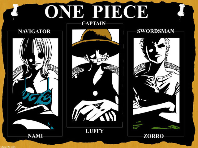 One Piece Nami Luffy Zorro Anime Manga Art Gigantic Print Poster TXHOME D7476