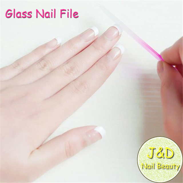 Foreverjasmine 24pcs Green Gl Nail File Crystal Professional Manicure Accessories Art Tools
