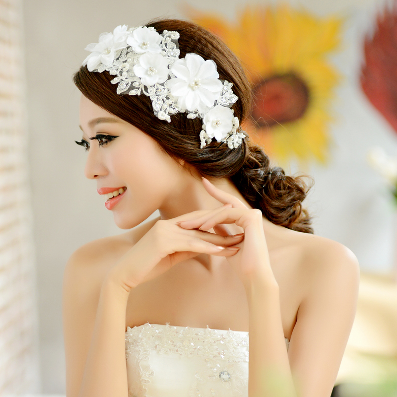 Wedding Hairstyles With Hair Jewelry: Free Shipping! Fashion Bridal Vintage Lace Flower Hair