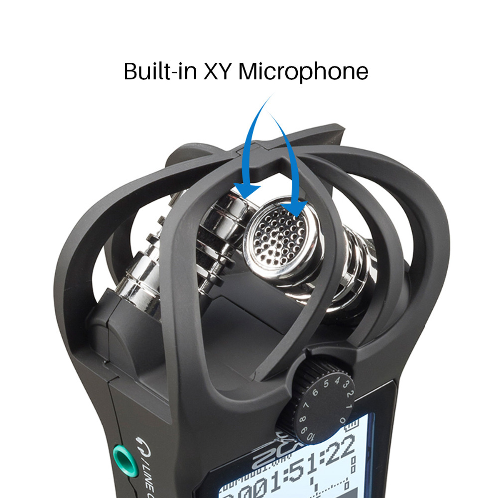 Zoom H1N Digital Camera Audio XY Stereo Microphone Handy Recorder Handheld Zoom for Nikon Canon DSLR with Windshield