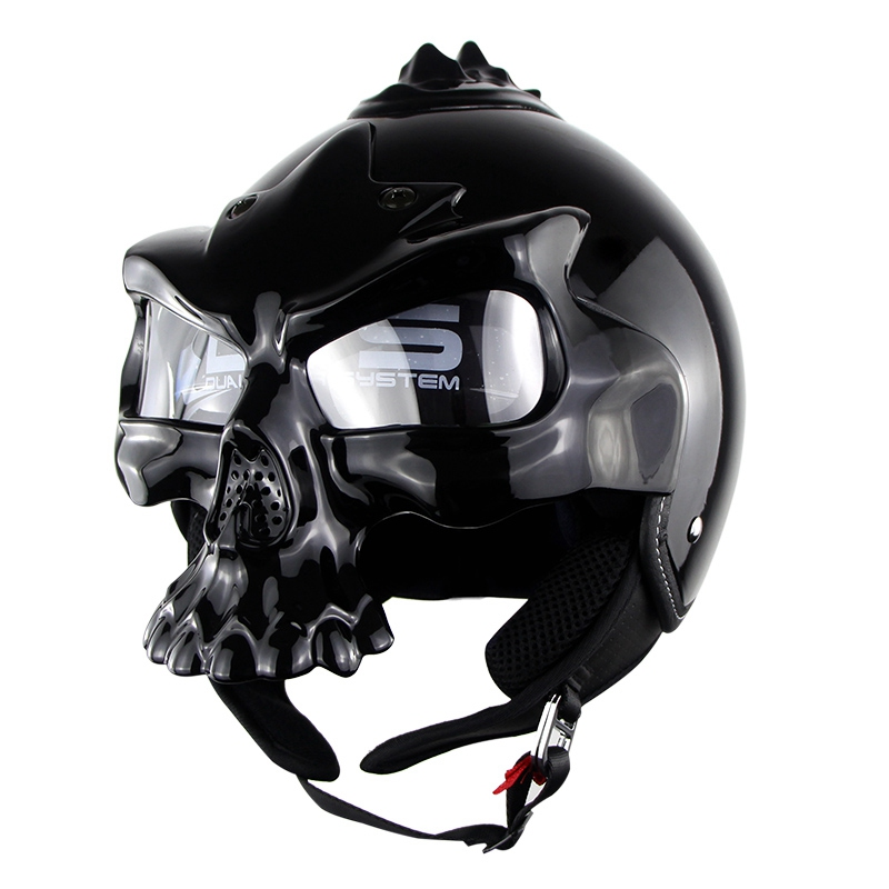 Free shipping!! Hot personality skull helmet motorcycle tyre face Harley helmet soman689 electric car