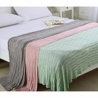 Yeni Bambu fiber örme battaniye Lüks Oteller özel modelleri Ev kanepe battaniye İskandinav tarzı eğlence battaniye Yatak Toptan