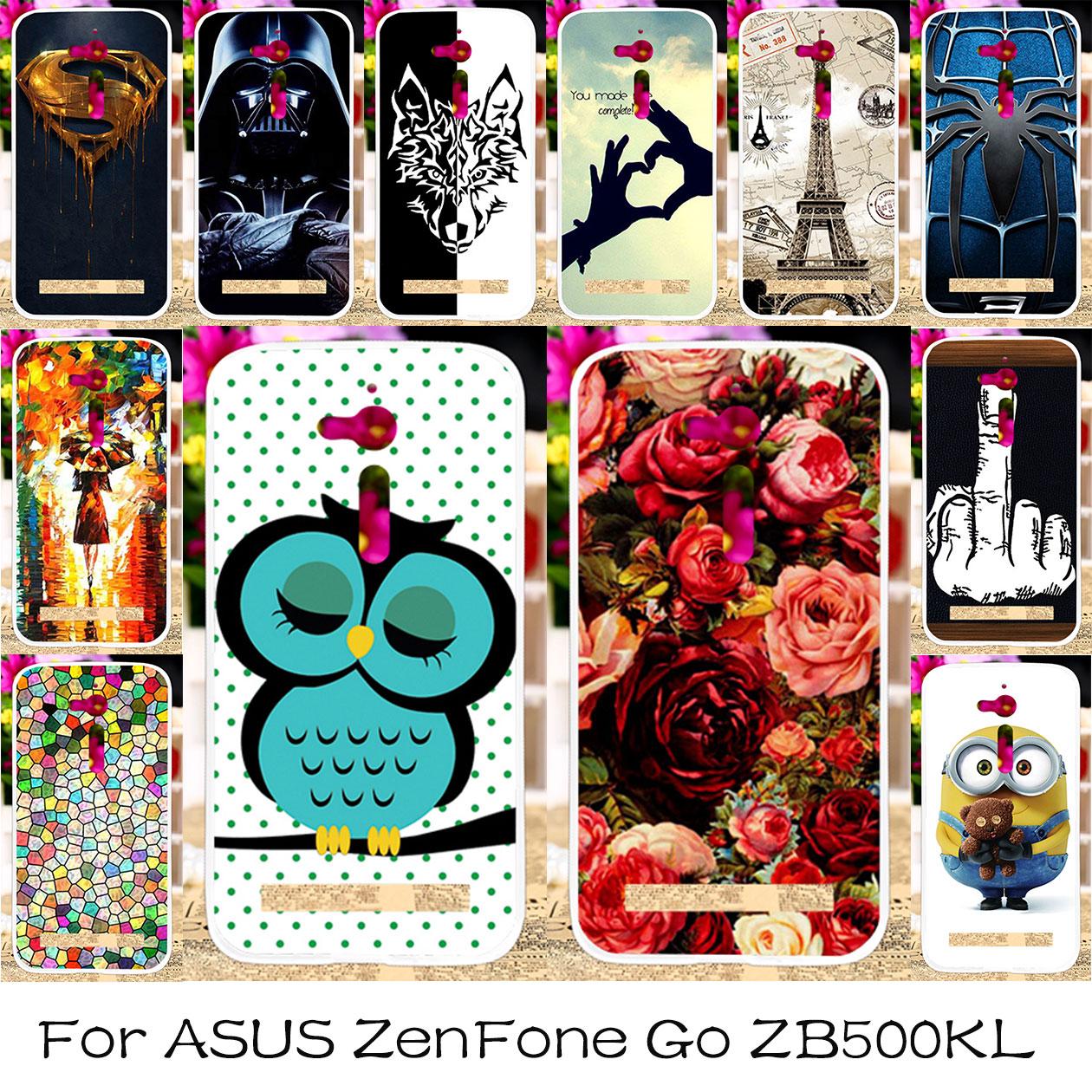 TAOYUNXI Silikonplasttelefonfodral för ASUS ZenFone Go ZB500KL - Reservdelar och tillbehör för mobiltelefoner