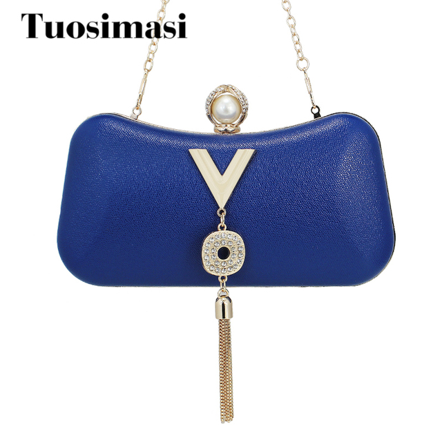 742e59af8252 Royal Blue Women Handbags Fashion Women Chain Shoulder Bag High Quality PU Leather  Crossbody Small Female Bags With Accessories