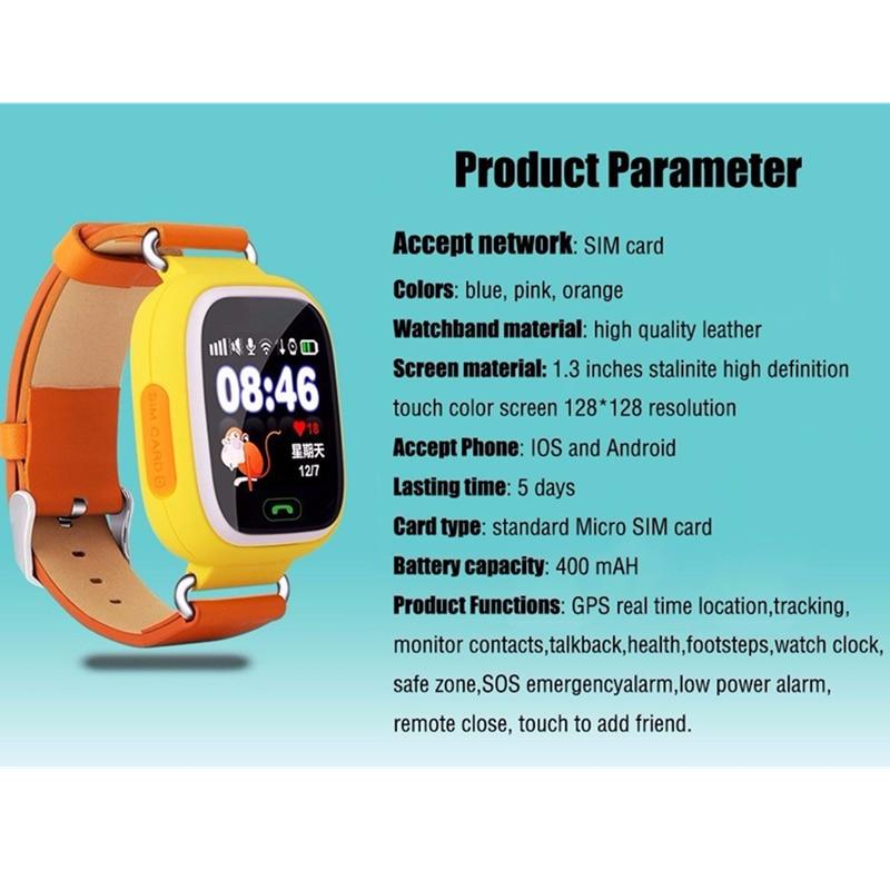 Montre intelligente Q90 pour enfants SOS appel localisation localisateur dispositif Tracker enfants Anti-perte montre-bracelet meilleur cadeau pour les enfants - 3