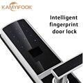 Biométrico de huellas dactilares cerradura de puerta inteligente con buena calidad Del Envío Libre de Color Plata