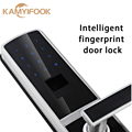 Intelligent fingerprint door lock biometric with good quality Free Shipping Silver Color