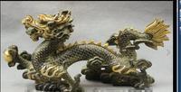 """88007002 <<< 15 """"Chinese Bronze Kupfer Tierkreis jahr Dragon Ball Statue FengShui Skulptur-in Statuen & Skulpturen aus Heim und Garten bei"""