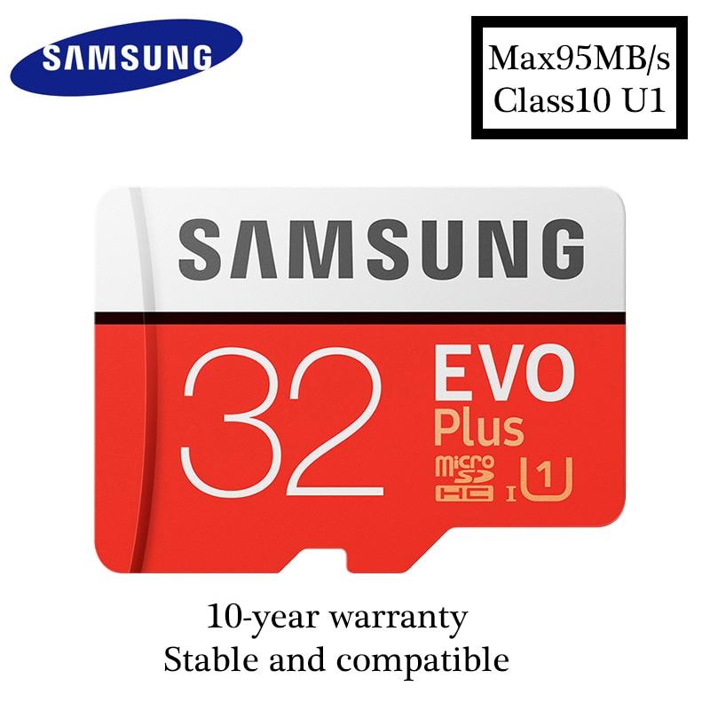 Original Samsung Micro SD card 32GB EVO PLUS Memory Card max95MB/S Flash TF Card Class10 S