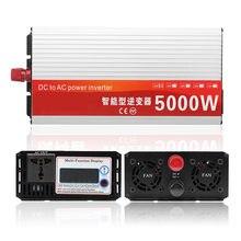 5000W Smart Onduleur solaire DC 12V 24V à CA 220V 110V Convertisseur Intelligent LCD Affichage