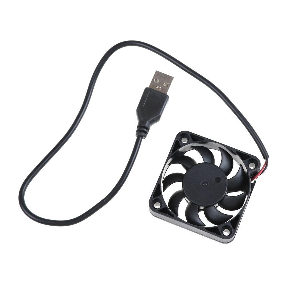 5V USB Connector 4500RPM PC Fan <font><b>Cooler</b></font> Heatsink Exhaust CPU Cooling Fan Replacement <font><b>50</b></font>*<font><b>50</b></font>*10mm image