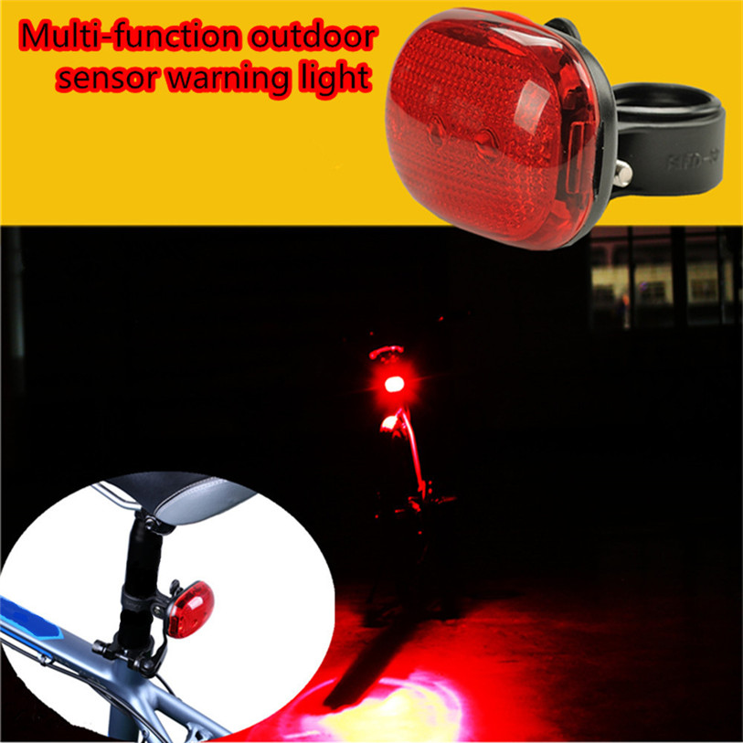 Solar Power 2 LED Bike Taillights Safety Warning Lights For Night Riding BG