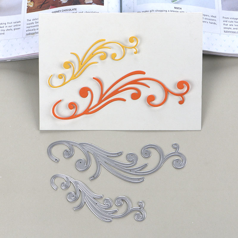 Duofen Stencils Metal Cutting Die European Style Vine Borders For Diy Craft Projects Scrapbook Paper Album Fixing Prices According To Quality Of Products Arts,crafts & Sewing