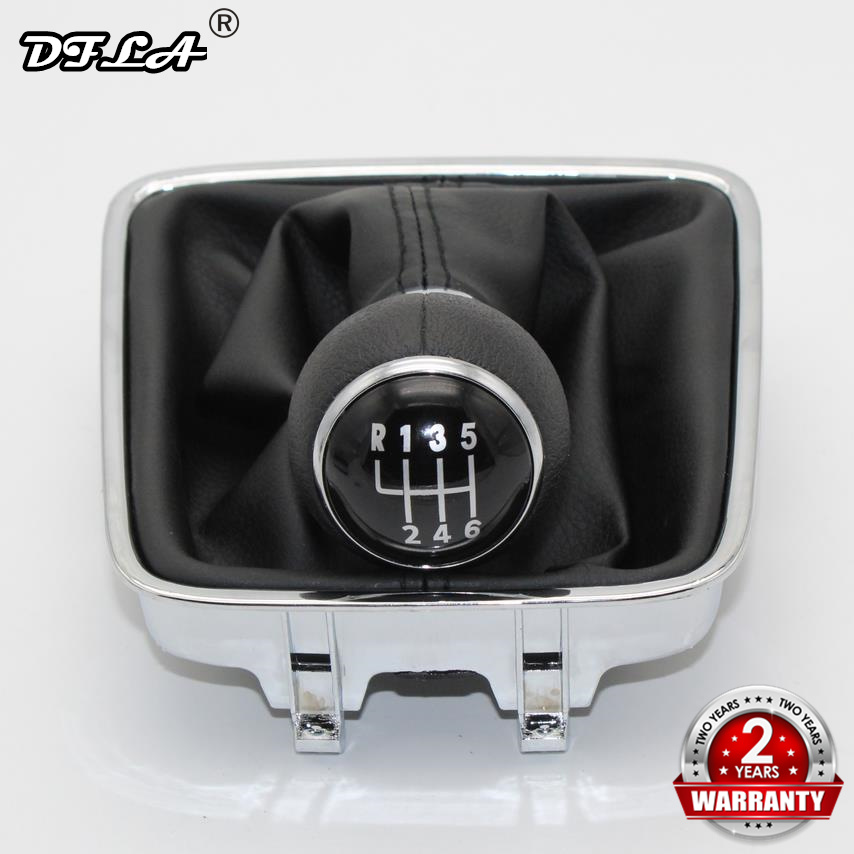 For VW Golf Plus 2005 2006 2007 2008 2009 2010 2011 2012 2013 2014 Car-Styling 6 Speed Car Gear Stick Shift Knob Leather Boot