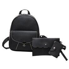 Новый 3 компл. штук женщины рюкзаки девушки рюкзаки студент школьный рюкзак девушки школьные сумки мода путешествия back pack сумка