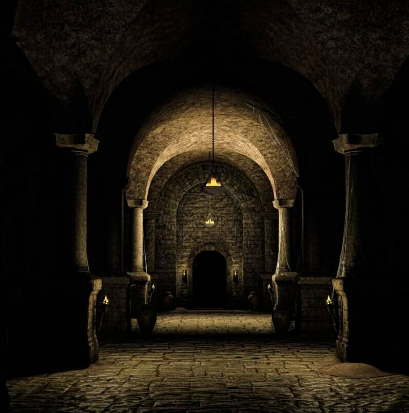 10x10ft Underground Middle Age Medieval Castle Hallway