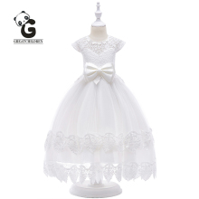 2019 New Flower Girl Dress Princess Communion Party Dress Kids Dresses for Girls Wedding Lace Sleeveless Kids Evening Dresses