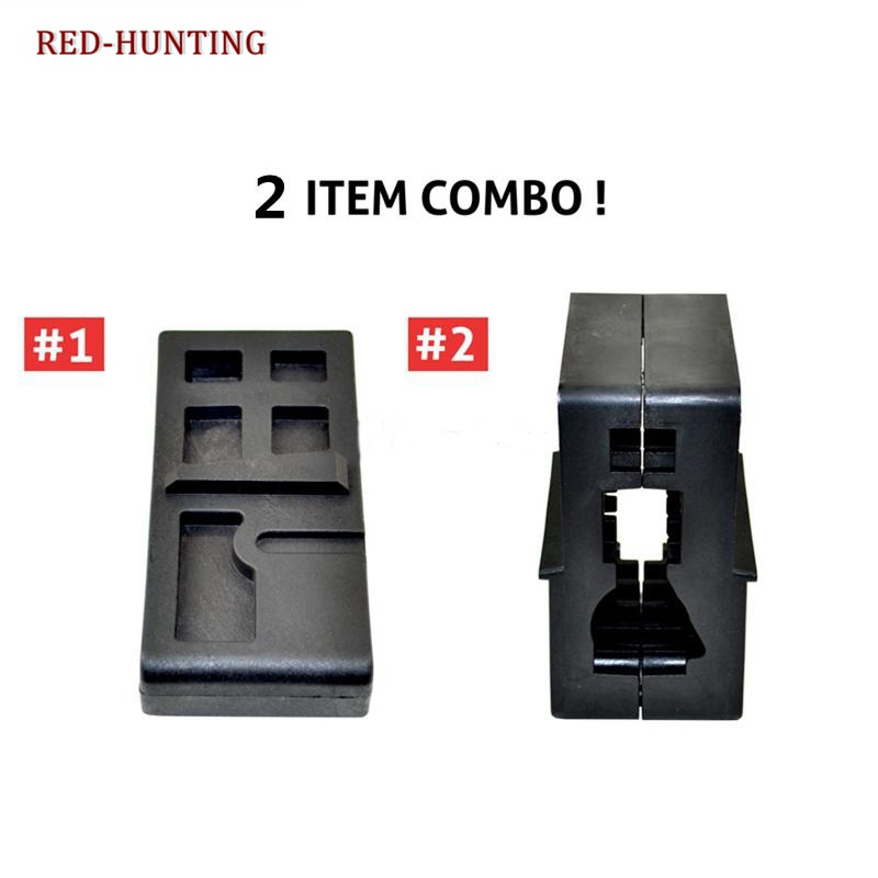 2 Combo AR15 M4 Armorer's Clamp Workbench Tool Kits.223 556 Lower Upper Vise Block for AR GunSmithing Rifle Build image