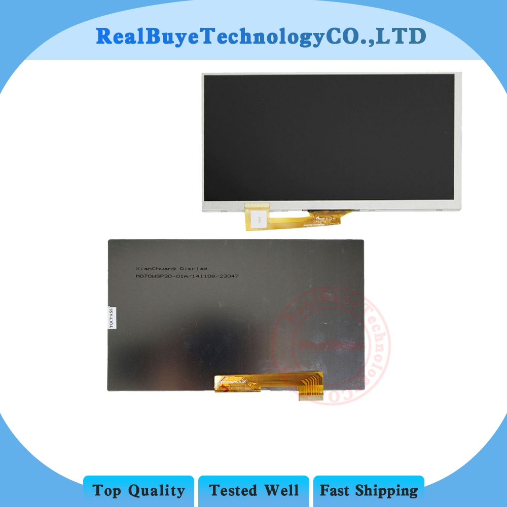 A+   LCD Display Matrix 7 inch 30pin Archos 70 Copper TABLET Inner LCD Screen Panel Lens Frame Module replacement new lcd display matrix for 7 archos 70b copper tablet inner lcd display 1024x600 screen panel frame free shipping